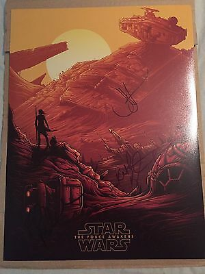 Star Wars Episode 7 TFA - Multi Signed Poster Rouge One