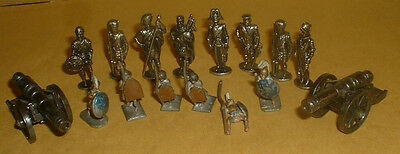 16 Metal Soldiers,cannons Etc.