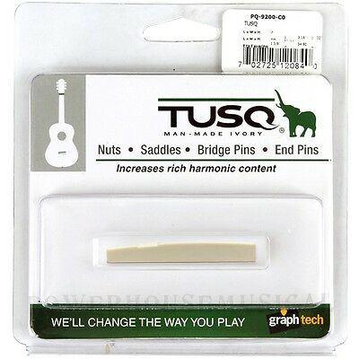 """Graph Tech Tusq Taylor Acoustic Guitar Saddle 1/8"""" Compensated *new* Pq-9200-C0"""