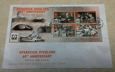 ISLE OF MAN Operation Overlord 60th Ann 1st day Issue.