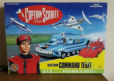 Captain Scarlet SPECTRUM COMMAND TEAM vehicle set. New and Boxed.
