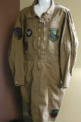 Vintage Dress w Air Force Patches 91st Strat Missile Wing Poised for Peace SizeM