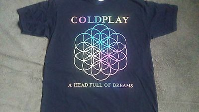 "Coldplay ""headful of dreams"" tour shirt(L-XL)"
