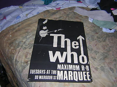 The Who Marquee London Maximum R & B Concert Poster