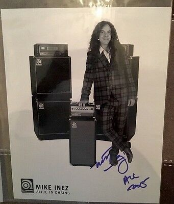 Alice In Chains Signed Autograph Mike Inez