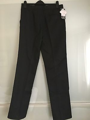 BHS Boy's Charcoal Grey School Trousers In Age 16 Years - New