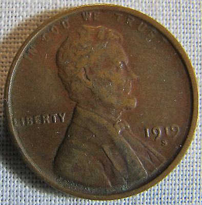 1919-S Lincoln Wheat Ears Cent **THE COIN IN THE PICTURES** whotoldya Lot 121516