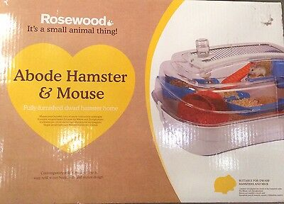 Rosewood Abode Dwarf Hamster Cage or Mouse Home in White - New - RRP £39.99