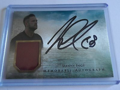 2016 Futera Unique Danny Ings Memorable Patch Auto 1/35 Code unused Burnley