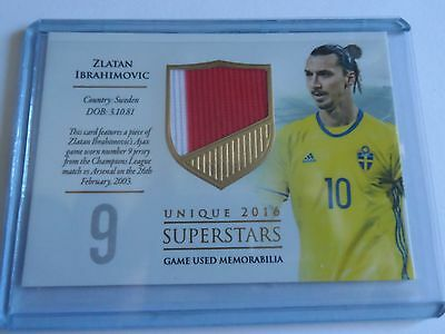 2016 Futera Unique Zlatan Ibrahimovic superstars Patch 28/59 code unused Ajax