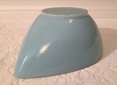 Vintage Anchor-Hocking Fire-King 1950s; Sm Swedish-Style TURQUOISE Mixing-Bowl