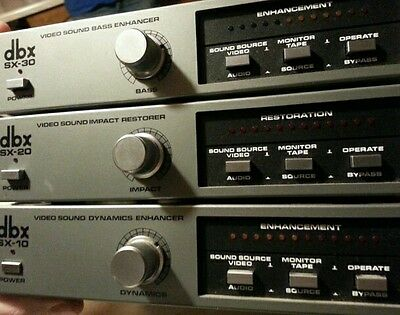 DBX Video sound modules,  SX-10, 20 and 30