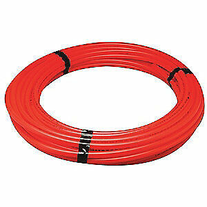 GRAINGER APPROVED PEX Tubing,Red,1/2 in,300 ft,100 psi, Q3PC300XRED
