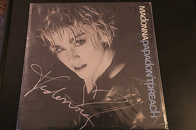 Madonna signed Papa Don't preach lp single