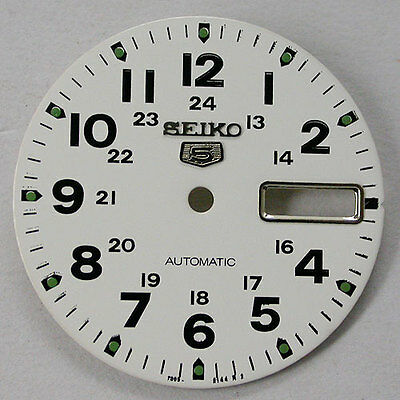 New ! Seiko5 7009  White Dial With Glass Automatic  Free Shipping