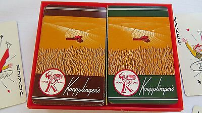 1950's Boxed Double Deck Adv. Playing Cards - Koepplinger's Bread/Bakery Exc.
