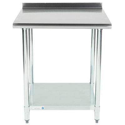 "NEW!! 30"" x 30"" Stainless Steel Work Prep Table Undershelf Restaurant Backsplash"