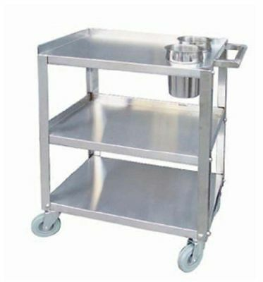 "Heavy Duty Stainless Steel Utility Dim Sum Cart 16"" x 24"" - Knock Down"