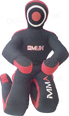 """QMUK MMA Grappling Judo Grapling Dummy - Sitting Position hands front Canvas 40"""""""