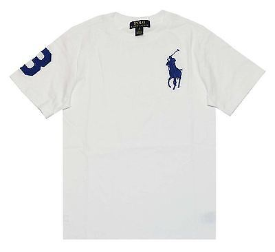 Ralph Lauren Boys Embroidery Jersey T-Shirt Big Pony White Xl (18-20) Msrp32
