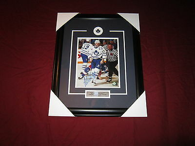 Wendel Clark Signed Toronto Maple Leafs Framed Autograph 8X10 #2