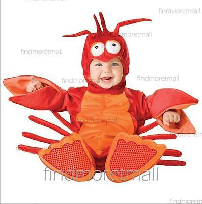 New Infant Toddler Baby Girl Boy lobster Crayfish Style Costume Camera Outfit