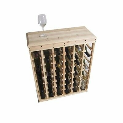 48 Bottle Pine Wine Rack with Top  - Wine storage solution Free Postage