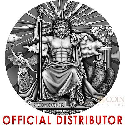 Niue Island JUPITER -KING OF THE GODS series ROMAN GODS $2 Silver Coin 2016 2 oz