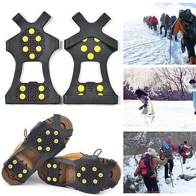 Over Shoe Studded Snow Grips Ice Grips Anti Slip Snow Shoes Crampons Cleats AU