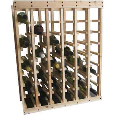 48 Bottle Pine Stackable Wine Rack - Wine Storage Solution - Free Postage!