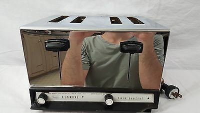 Vintage Sears Kenmore Twin Control Chrome 4 Slice Toaster Model 303.6321.0 Nice