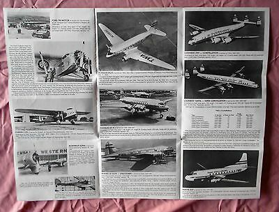 1979 Twa Airlines 50 Years Of Aircraft Dc 9 Northrop 707 Brochure Magnet Lot