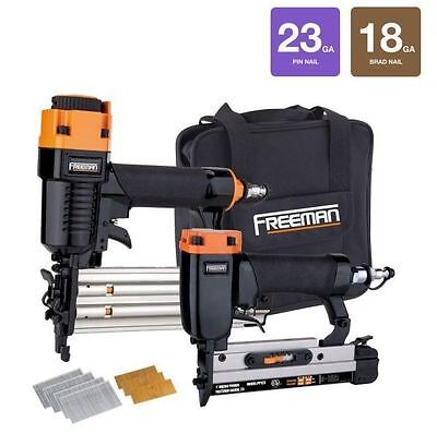 Freeman Professional Woodworker Air Nailer Special Kit with Fasteners (2-Piece)