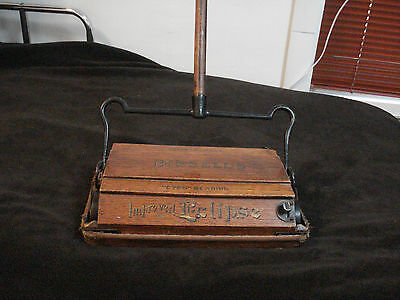 "Bissell's ""CYCO"" BEARING Antique Wooden Carpet Sweeper Mutual Trading Co. NY"