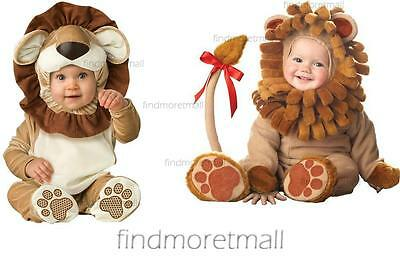 New Toddlers Baby Babygrow  Loveable Lion Jungle Zoo Fancy Dress Costume Onesie