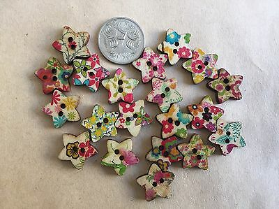 20 Star Buttons - Randomly Selected -