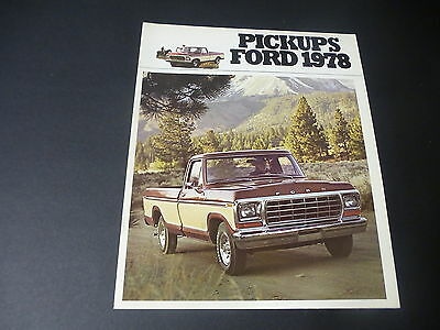 Original - 1978 FORD PICKUPS - French  Brochure
