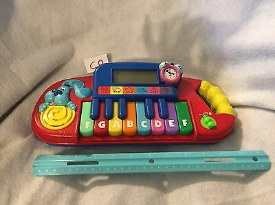 Blue's Clues Mattel Play Learn Keyboard Piano Educational Toy Blue & Tickity