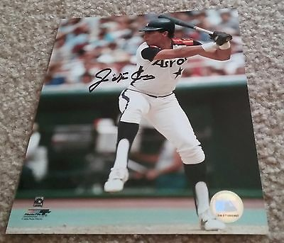 MLB ASTROS HOF JOSE CRUZ AUTOGRAPHED SIGNED 8x10 BASEBALL PHOTO COA JSA PSA