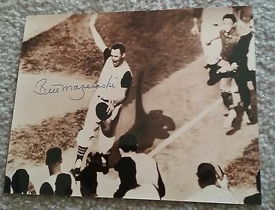 MLB PIRATES BILL MAZEROSKI AUTOGRAPHED SIGNED 8x10 BASEBALL PHOTO COA JSA PSA