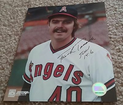 MLB ANGELS HOF FRANK TANANA AUTOGRAPHED SIGNED 8x10 BASEBALL PHOTO COA JSA PSA