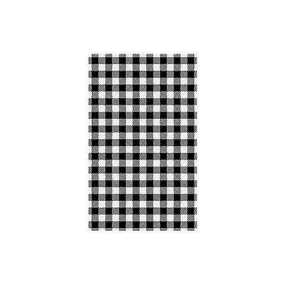 200 Sheets X Greaseproof Paper Gingham Black 190x310mm