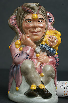"""Royal Doulton """"the Jester"""" Signed Toby Jug - Limited Edition Cert."""