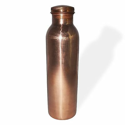 Traveller's 100 % Pure Copper Water Bottle for Ayurvedic Health Benefits