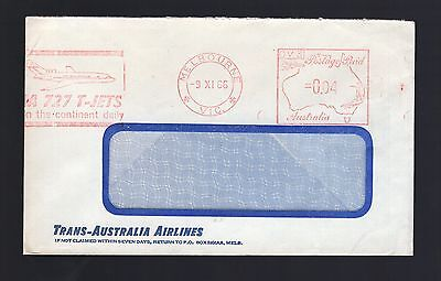 Australia TAA Trans-Australian Airlines 1966 postage paid cover see scans x2