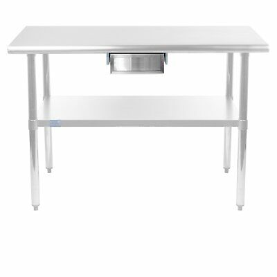 Commercial Stainless Steel Work Table - 24 x 60 with Drawer