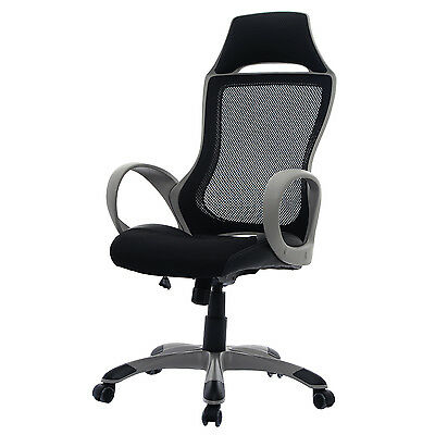 Mesh Design Office Chair Business Computer Desk Chair Adjustable Home Study Seat