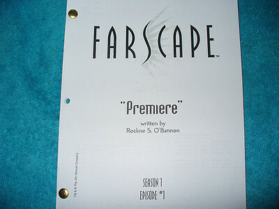 Farscape Tv Pilot Script - Ben Browder - Claudia Black - Virginia Hey