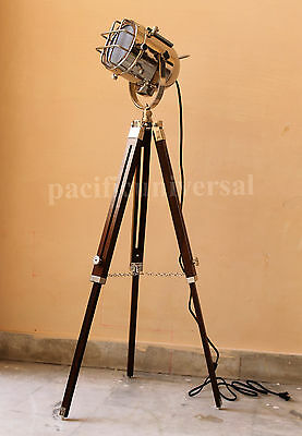 Hollywood Studio Floor Lamp Searchlight Spotlight With Tripod Stand Lamps Lights
