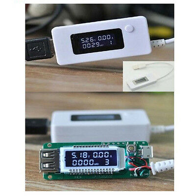 New Mini Dual USB Voltage Current Detector Phone Power Charger Meter LCD Display